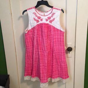 Pink Free People dress
